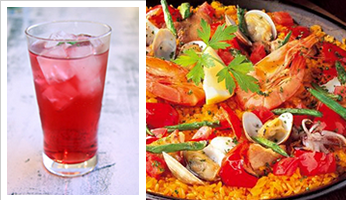 Spanish cuisine and cactus drink